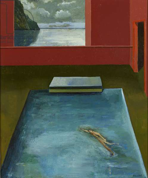 The Swimmer, 2015 (oil on canvas)