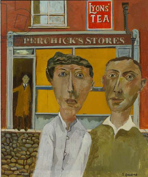 Outside Perchick's Stores, 2015 (oil on canvas)