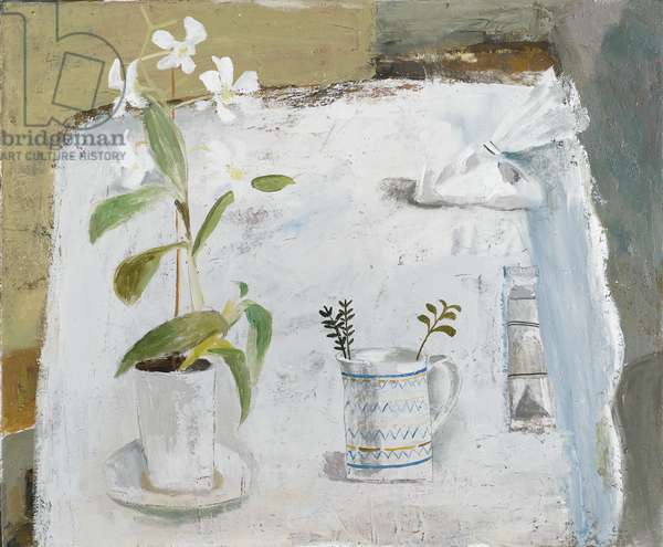 White Orchid, 2003 (oil on canvas)