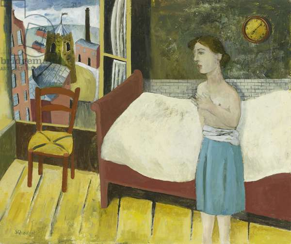 Young Woman in Bedroom, 2011 (oil on canvas)