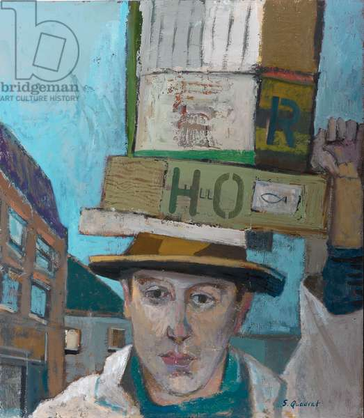Billingsgate Fish Porter, 2007 (oil on canvas)