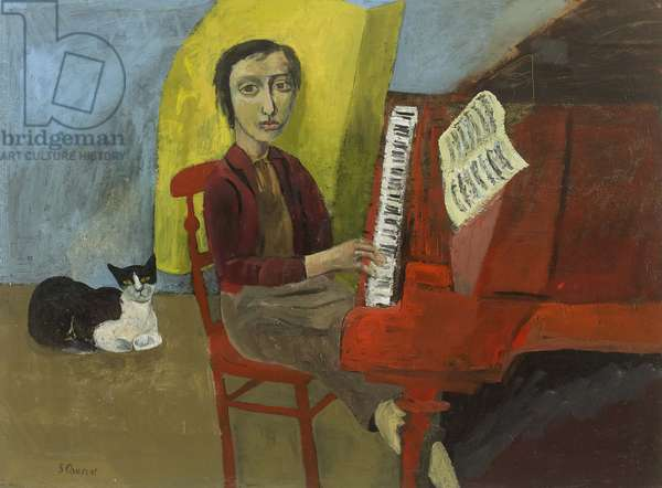 Girl at the Piano, 2009 (oil on canvas)