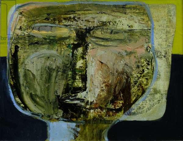 Abstract Head, 2016 (oil on canvas)