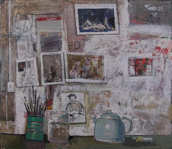 Studio Wall, 2004 (oil on canvas)
