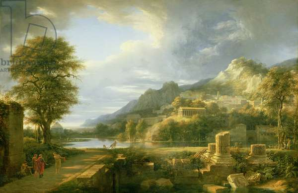The Ancient Town of Agrigentum, 1787 (oil on canvas)