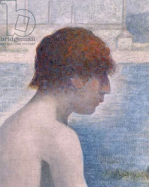Bathers at Asnieres, 1884 (oil on canvas) (detail of 2136)