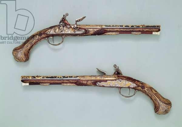 Flintlock pistols, 1690