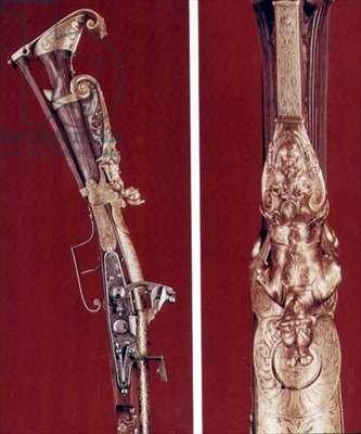 Flintlock sporting gun, probably made for Henri IV of France, c.1605-10