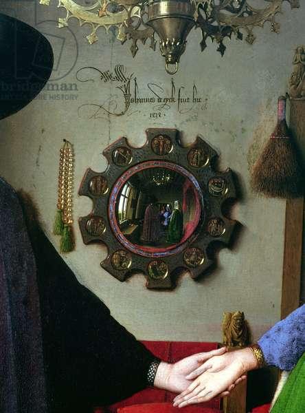 Arnolfini Marriage, detail of mirror, 1434 (oil on panel)