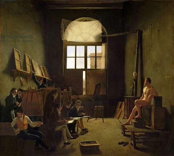 Atelier de David, 1814 (oil on canvas)