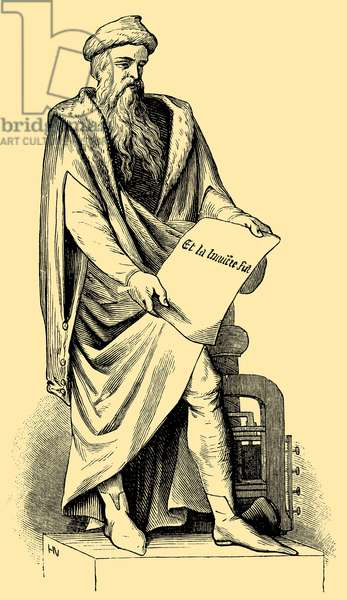 Johannes Gutenberg (c. 1398–1468), inventor of movable type printing