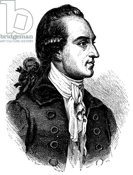 Johann Wolfgang von Goethe (1749  – 1832),  German writer, after a portrait from 1779
