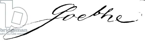 Johann Wolfgang von Goethe: Autograph