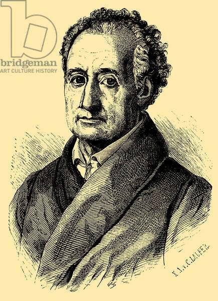 Johann Wolfgang von Goethe (1749  – 1832),  German writer