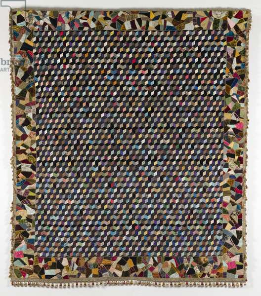 Baby Blocks Coverlet, by Catherine Issel Briggs, 1890-99 (textile)