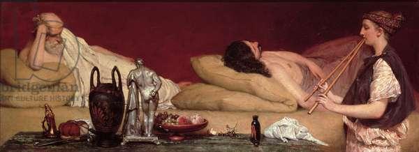 The Siesta, 1868 (oil on panel)