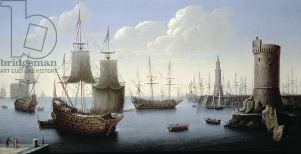 A Mediterranean Port Scene