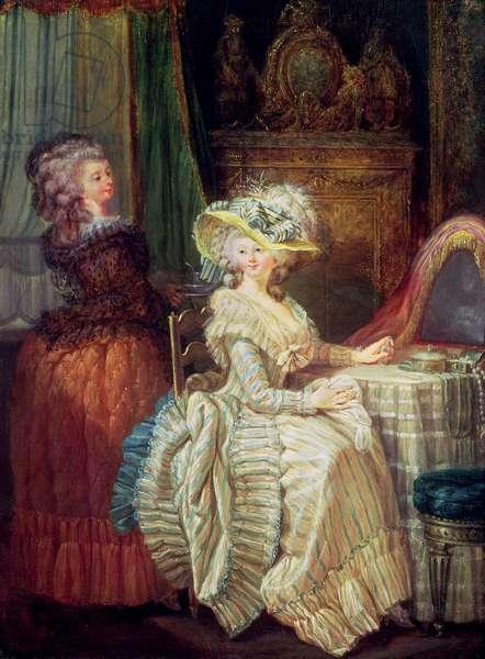 Two Women at a Dresser