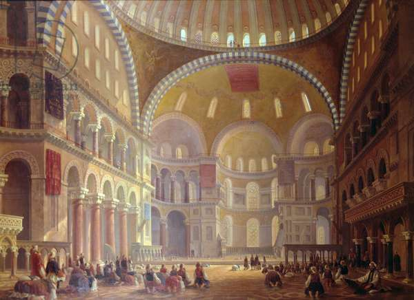 The Blue Mosque (oil on canvas)