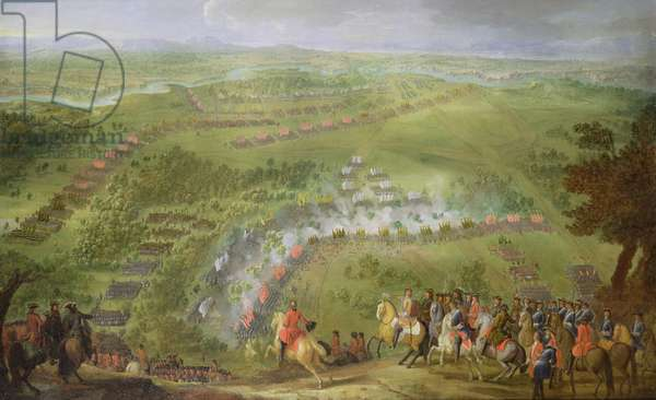 The Battle of Lesnaya in 1708 (oil on canvas)