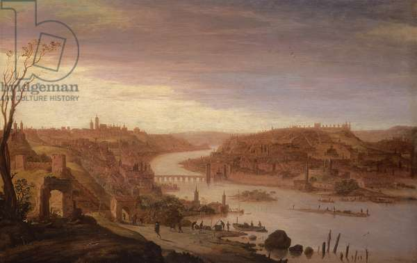 Panoramic View of Prague (restored version, see also 52796)