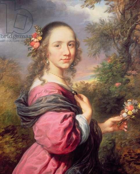 A Portrait of a Lady, wearing a Purple Dress, 1658