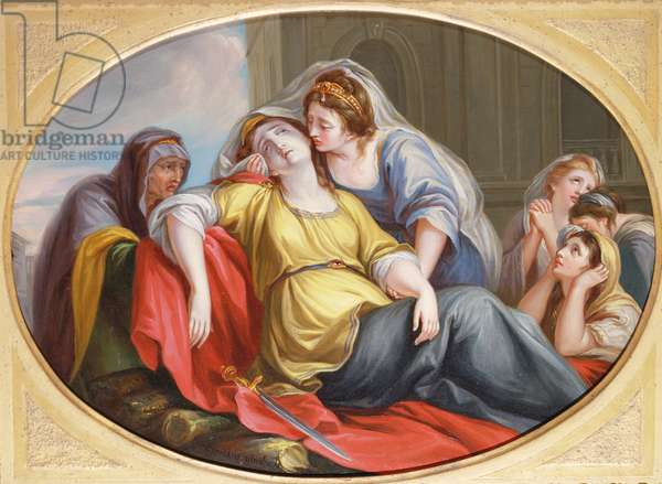 The Death of Dido, 1778 (oil on copper)