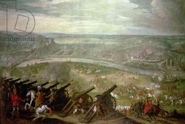 Siege of Esztergom in 1543 (oil on canvas)