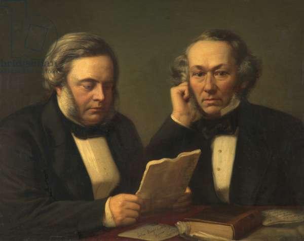 John Bright and Richard Cobden, (oil on canvas)