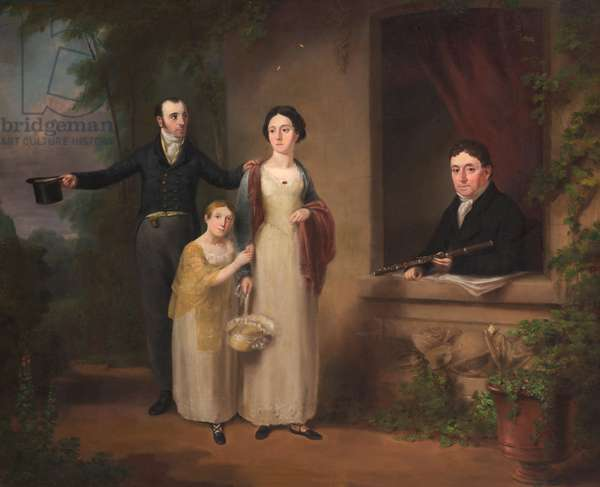 Darcy Lever with his son John and daughters Frances and Emelia Charlotte, c.1820 (oil on canvas)