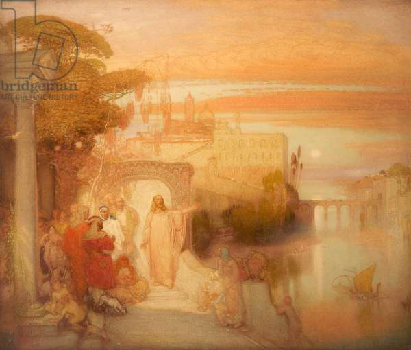 Christ at Jerusalem, 1907 (oil on canvas)