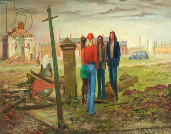 Embryo, Moss Side, Manchester, 1965 (oil on canvas & board)