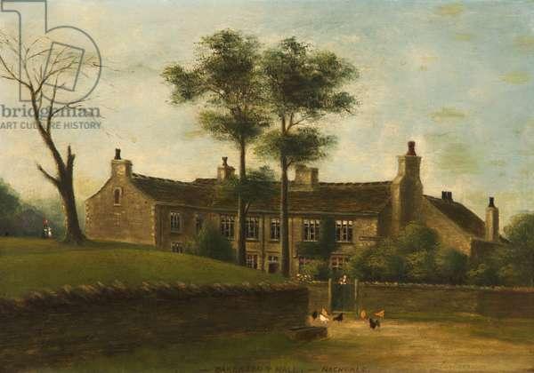 Oakenrod Hall, Rochdale, Lancashire, 1885 (oil on card)