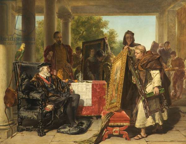 Charles V at the Monastery of Yuste, 1856 (oil on canvas)