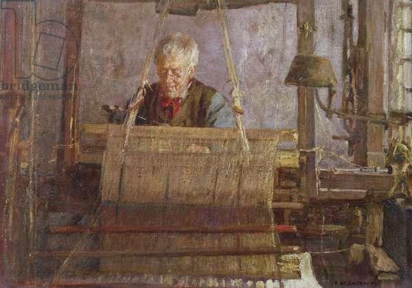 The Last of the Handloom Weavers (oil on canvas)