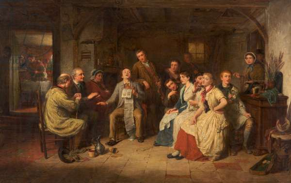 Obliging the Company, c.1879 (oil on canvas)