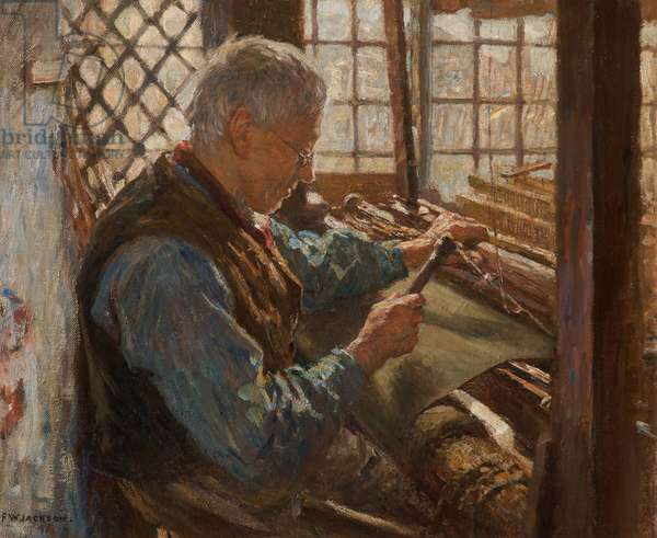 The Old Weaver, (oil on canvas)