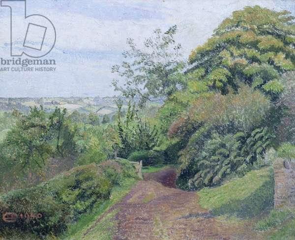 A Muddy Lane, Hewood, Dorset, 1940 (oil on canvas)