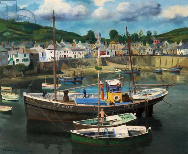 Mousehole, Cornwall, 1938 (oil on canvas)