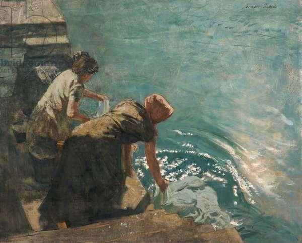 Early Morning, Lake Garda, Italy (oil on canvas)
