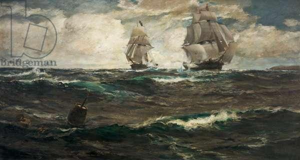 The Armed Merchant Man, 1912 (oil on canvas)