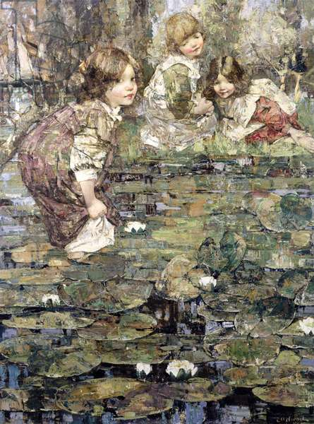 Among the Lilies, 1905 (oil on canvas)