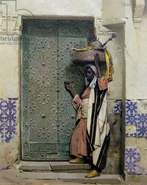 An Eastern Doorway: At the Moslem Chief's Door, 1887 (oil on wood)