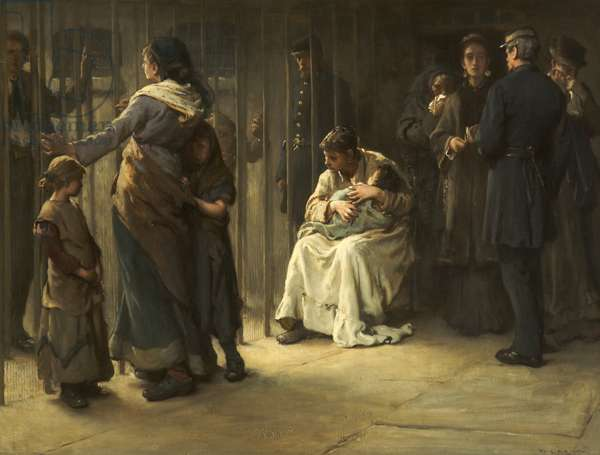 Newgate, Committed for Trial, 1878 (oil on canvas)