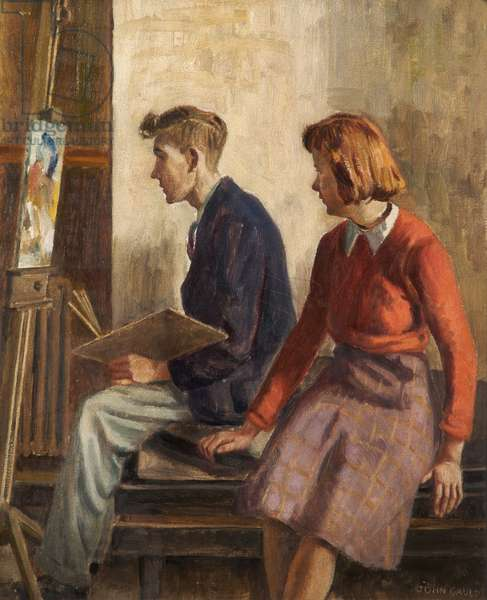 The Students, c.1949–-50 (oil on canvas)