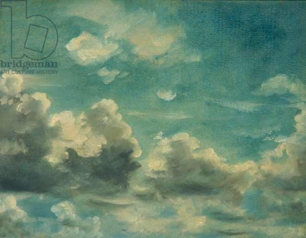 Study of Cumulus Clouds (oil on canvas)