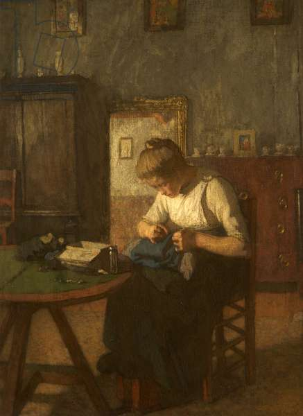 The Young Seamstress, 1907 (oil on canvas)