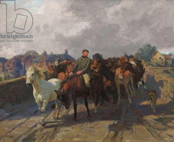 Hill Folk, c.1910 (oil on canvas)