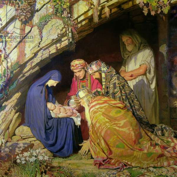The Three Wise Kings, c.1920 (oil on canvas)
