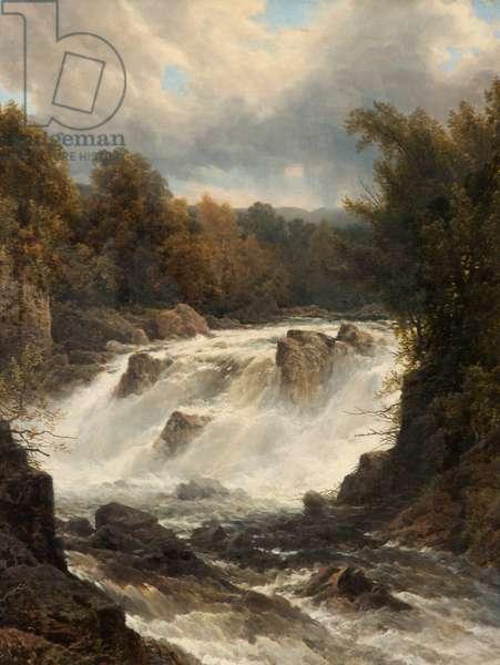 Swallow Falls, Betws-y-Coed, Conwy, c.1880 (oil on canvas)